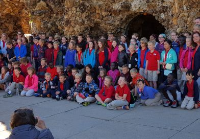 Ames students visit the Grotto of the Redemption