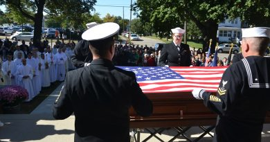 Chaplain's remains laid to rest in Dubuque