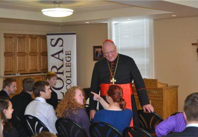 Cardinal Dolan visits Loras; meets students, faculty