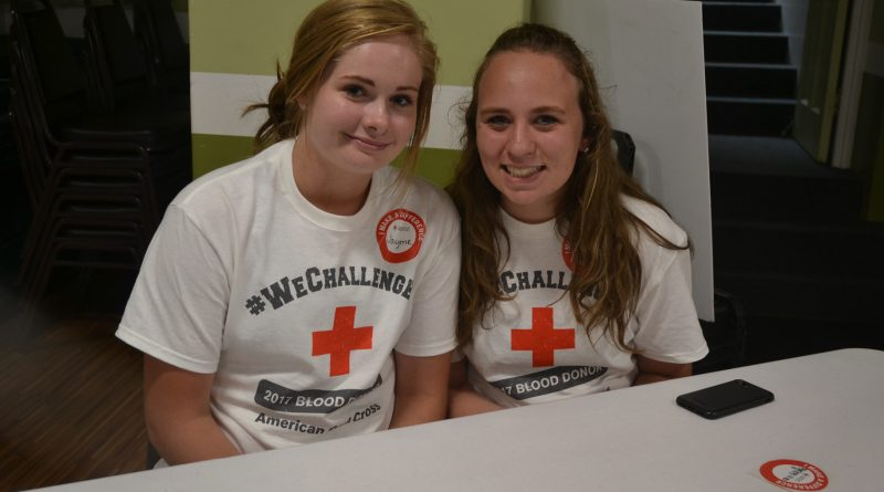 Teens staff blood drive as part of service days