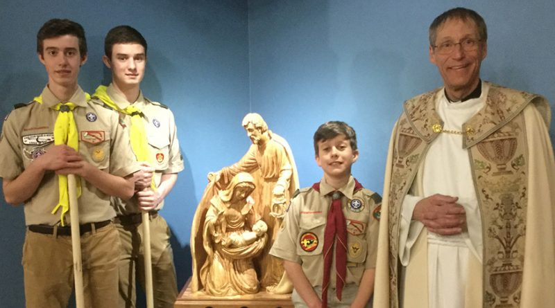 Eagle scout project, sculpture honors the Holy Family
