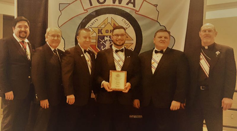 Young man from Dubuque awarded Knight of the Year for Iowa