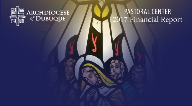 Latest financial report from the Archdiocesan Pastoral Center
